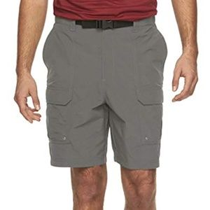 Men's Quick Dry Cargo Shorts Belted NWT